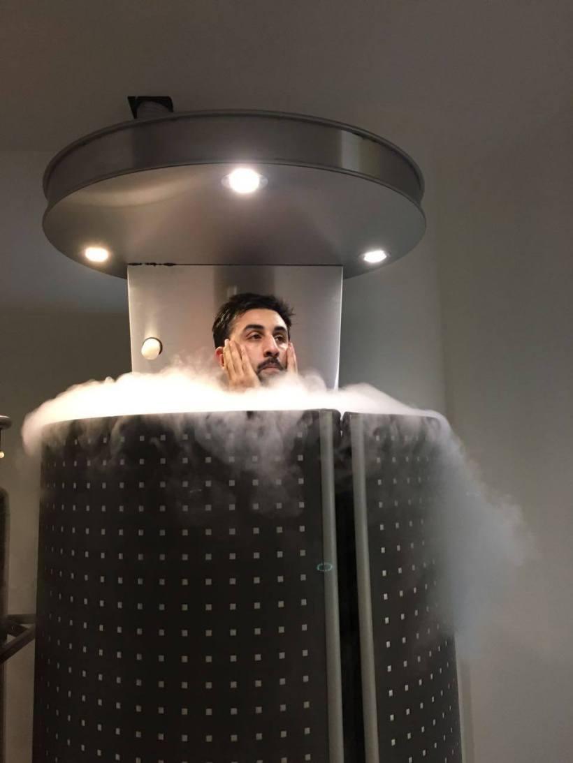 Ranbir Kapoor chilling @Alchemy Cryochamber